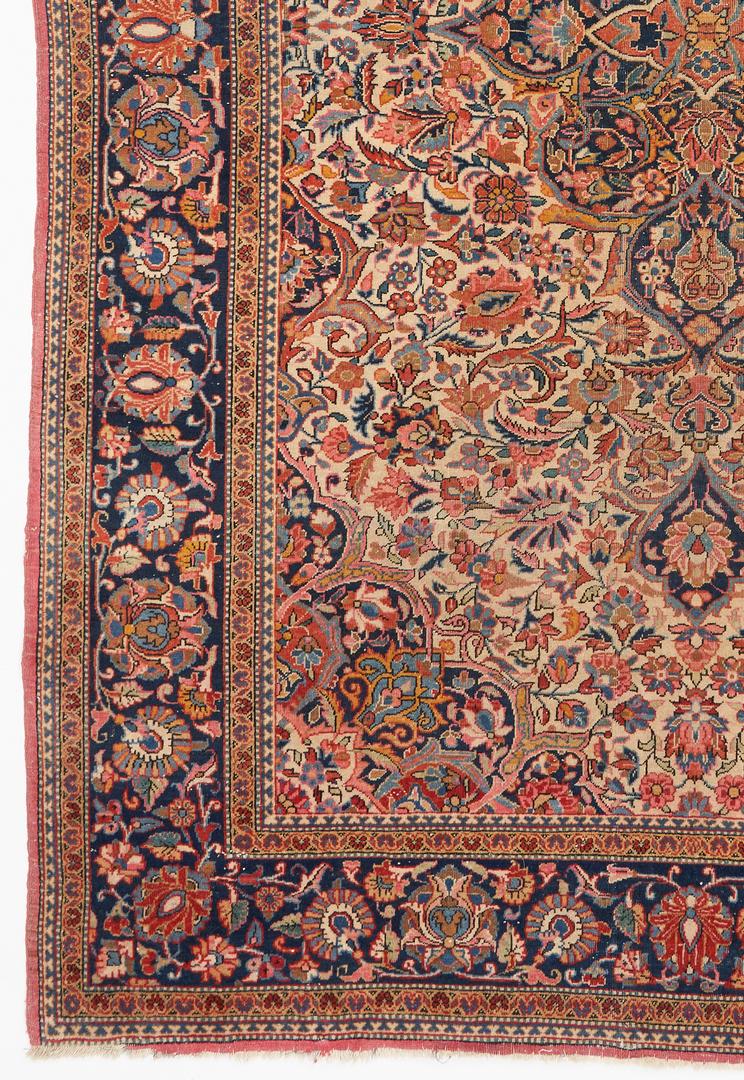 Lot 491:  Antique Persian Farahan Sarouk Rug, approx. 6 x 4