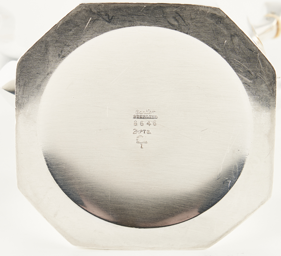Lot 493: 3 Pcs. Cartier Sterling Silver Hollowware