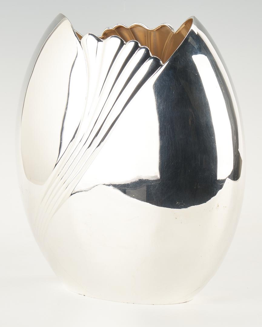 Lot 495: Italian Fratelli Cacchione Sterling Silver Vase