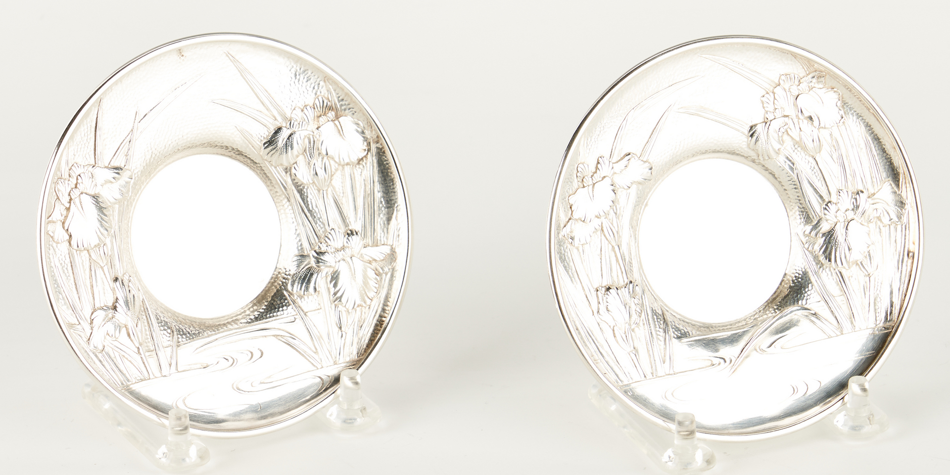 Lot 4: Meiji Japanese Export Silver and Porcelain Teacup Set, 56 pcs