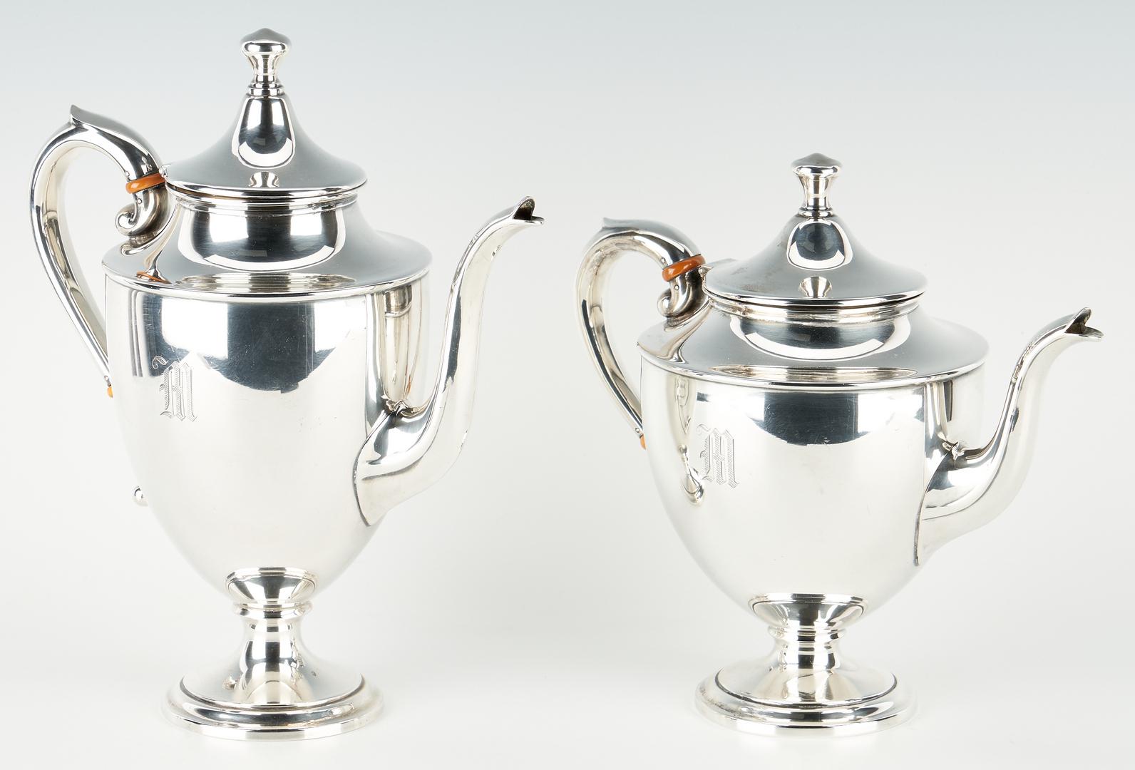 Lot 503: 4 Pcs. Sterling Silver Tea Set