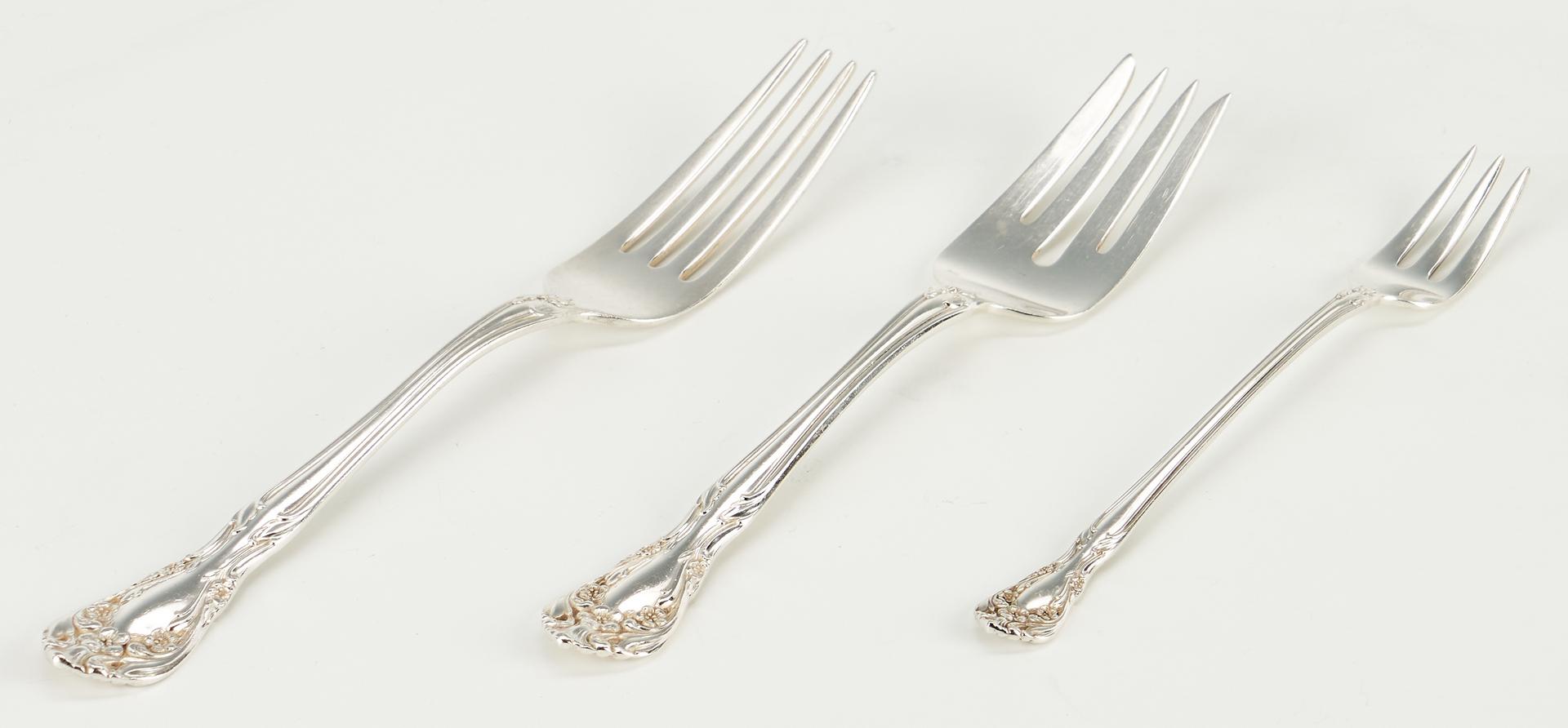 Lot 504: 46 Pcs. Sterling Silver incl. Goblets & Flatware