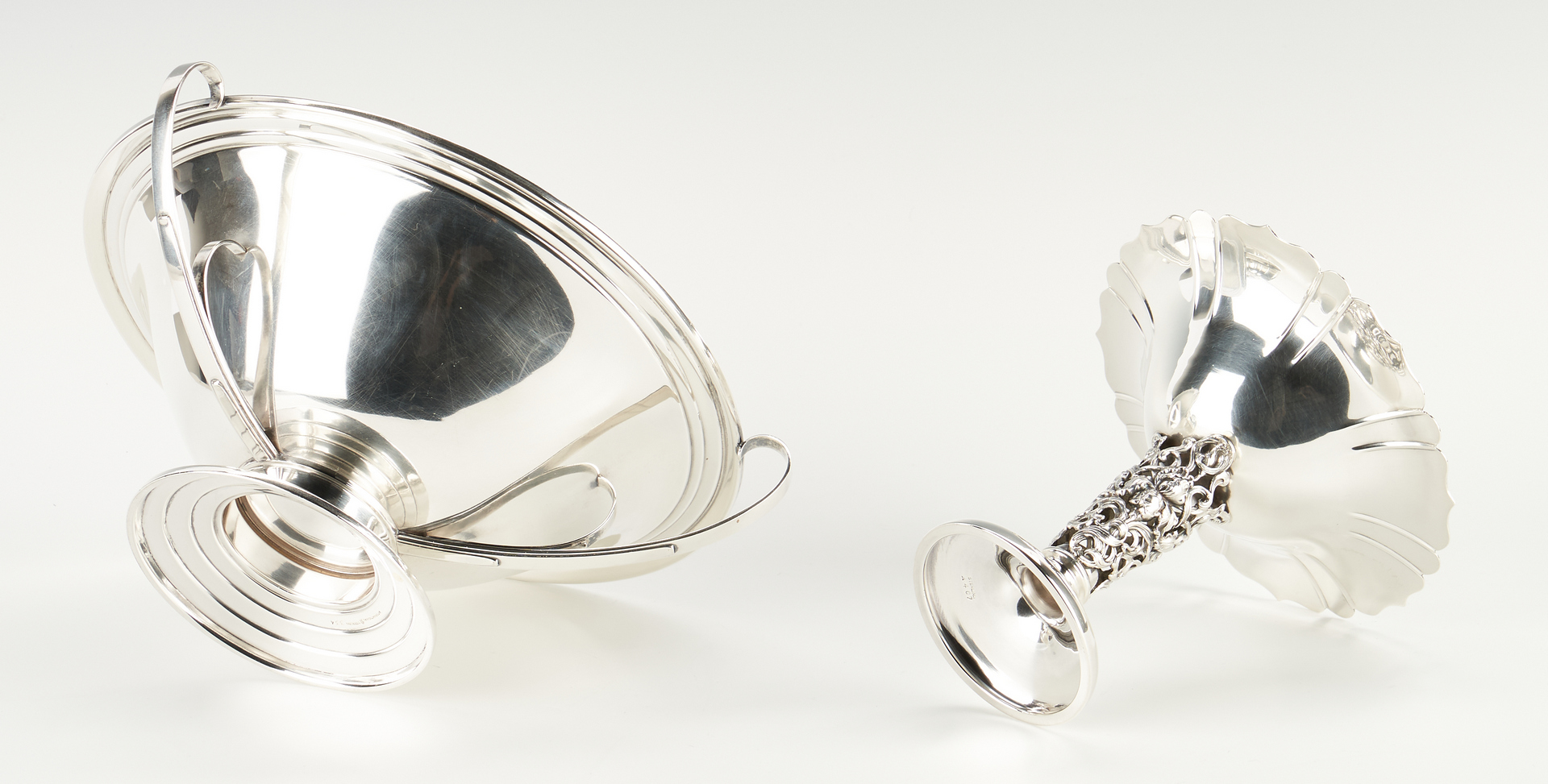 Lot 511: 4 Sterling Silver Compotes, incl. International, J.E. Caldwell