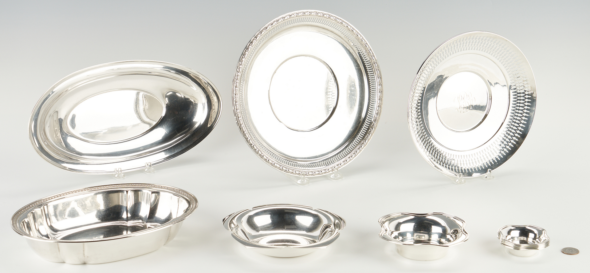 Lot 512: 12 Sterling Silver Hollowware Items, incl. Tiffany & Co.