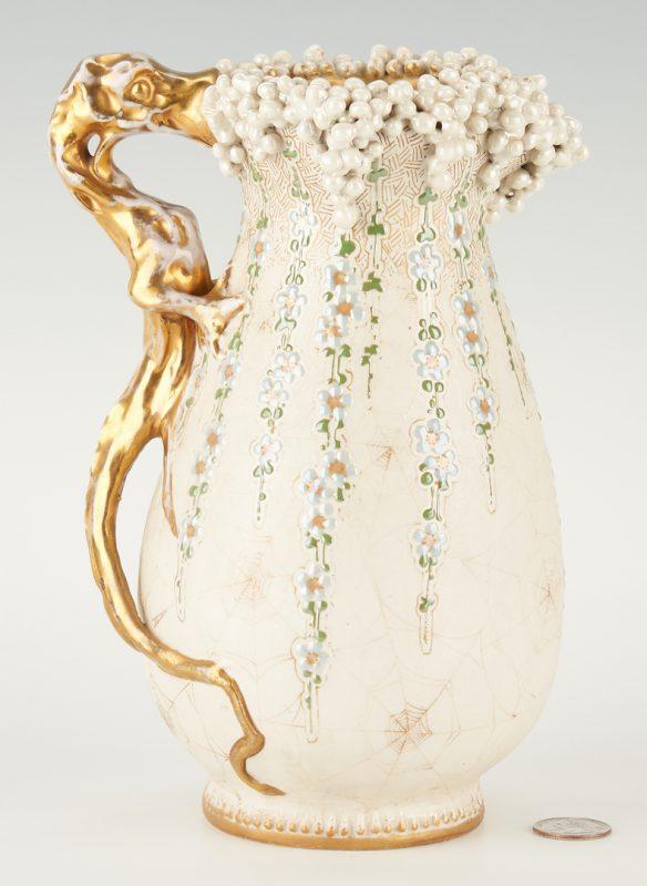 Lot 516: Amphora Golden Dragon Pitcher