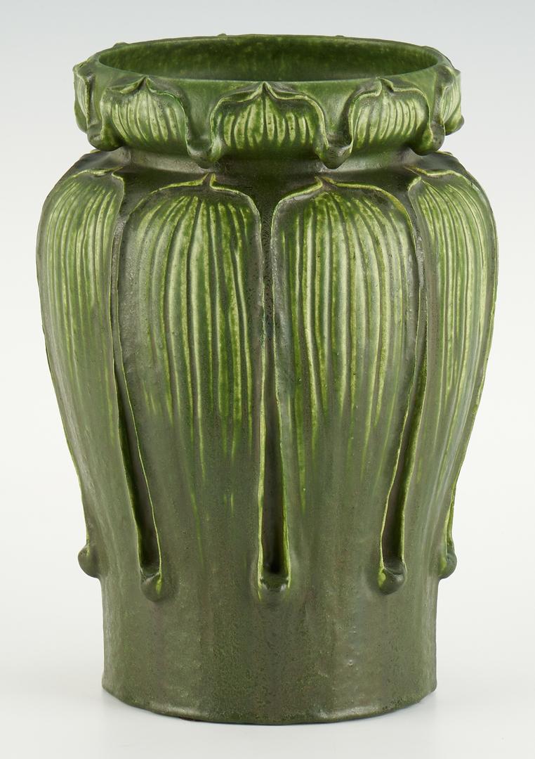 Lot 521: Grueby Faience Co. Pottery Vase, Kendrick Design