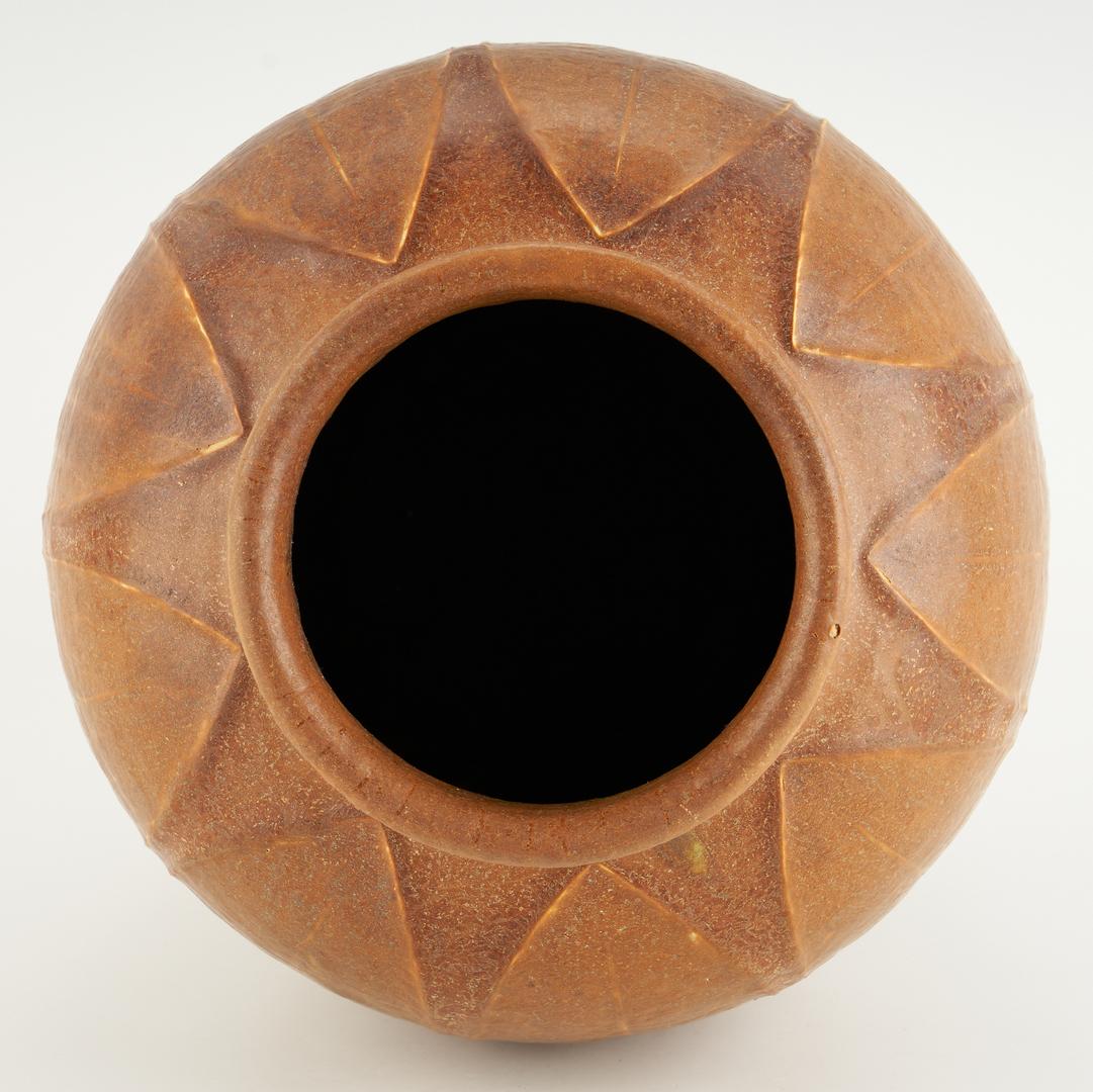 Lot 522: Grueby Pottery Company Double Glaze Vase, Ruth Erickson