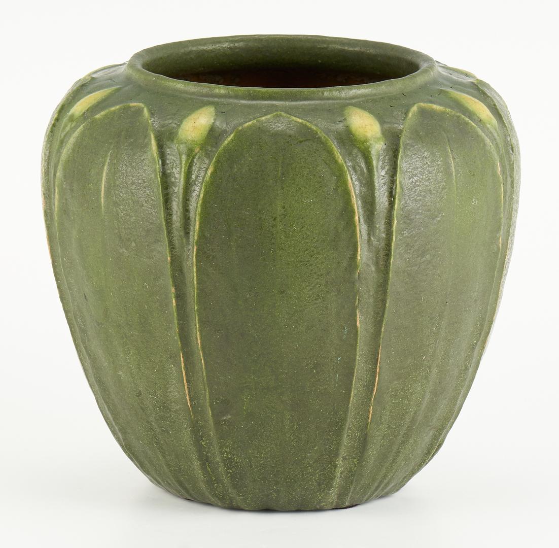 Lot 524: Grueby Art Pottery Vase, Two (2) Color Glaze, M. Seaman