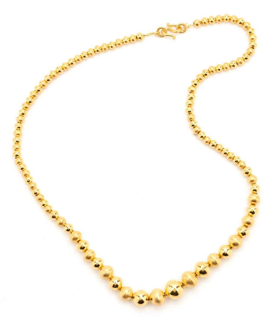 Lot 52: 22K Gold Beaded Necklace