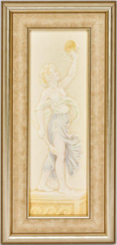 Lot 530: American Encaustic Tiling Company, Classical Female Figure