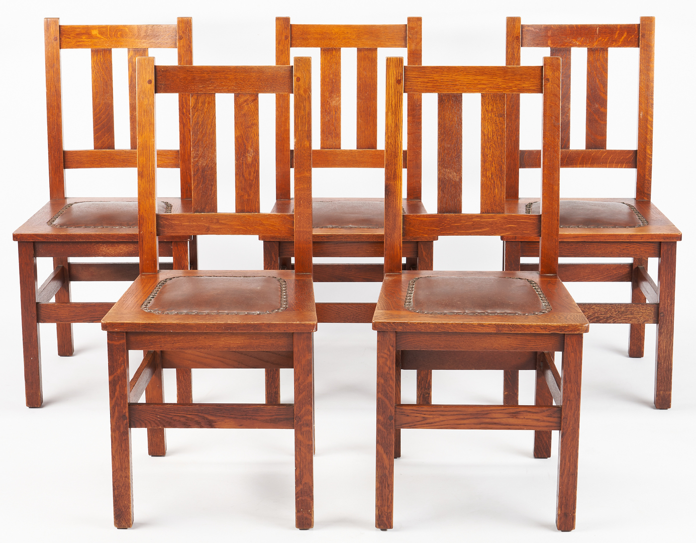 Lot 532: 6 Stickley Brothers Arts & Crafts Dining Chairs