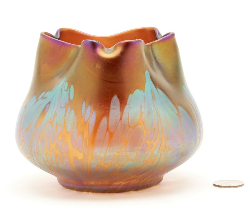Lot 535: Signed Loetz Medici Art Glass Vase