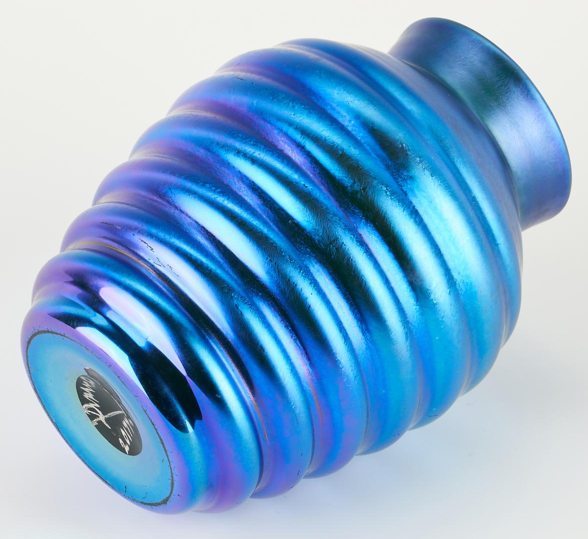 Lot 536: Durand Art Glass Beehive Vase