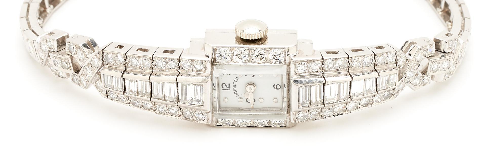 Lot 53: Vintage Hamilton Diamond & Plat. Watch