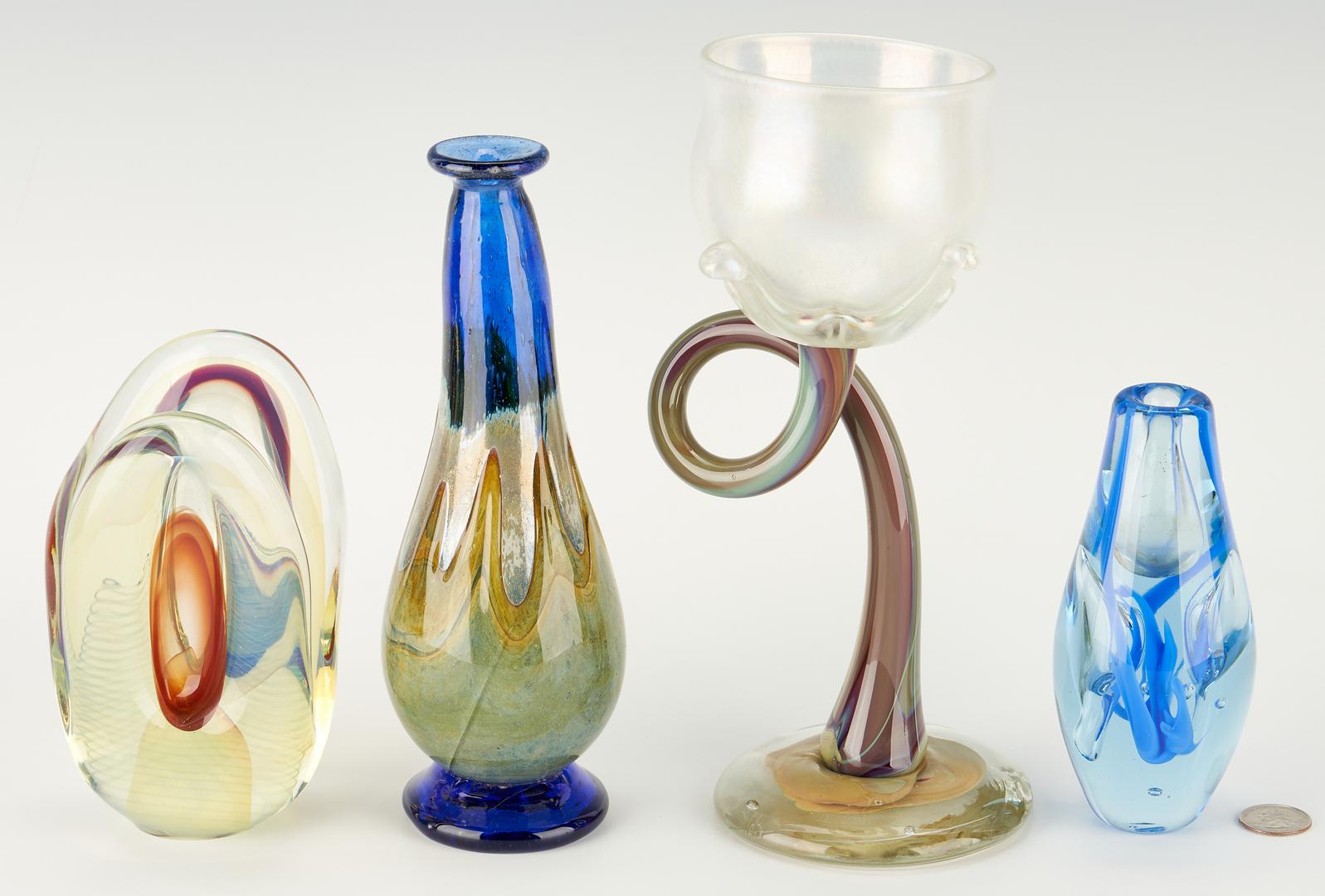 Lot 542: 4 Pcs. Art Glass, incl. Richard Jolley
