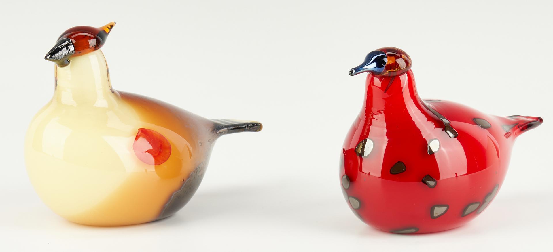 Lot 547: 4 Iittala Oiva Toikka Art Glass Birds