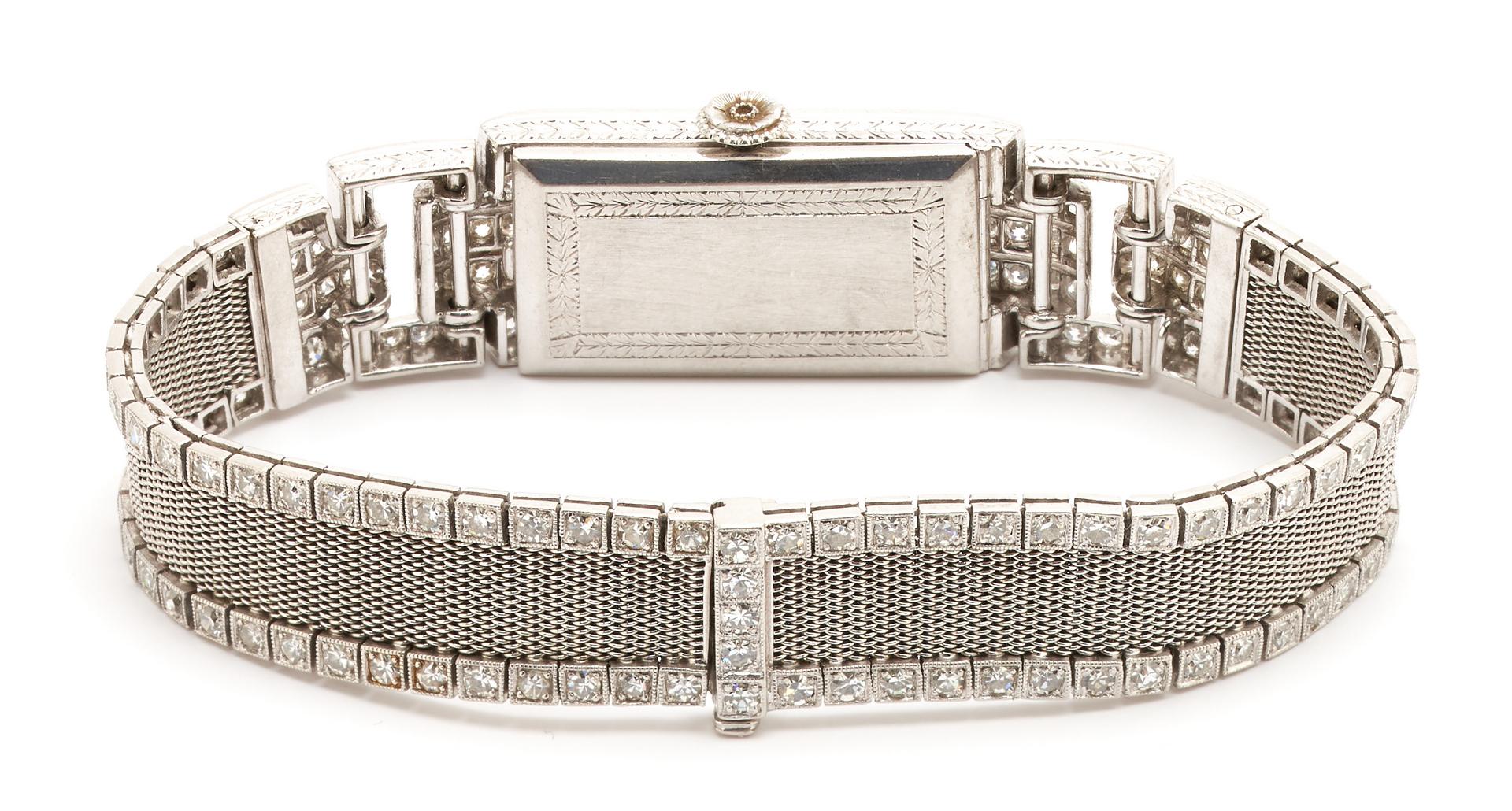 Lot 54: Vintage Patek Philippe Diamond & Platinum Watch