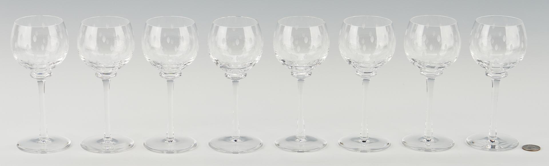Lot 551: 16 Hermes Crystal Fanfare Wine Glasses w/ Boxes
