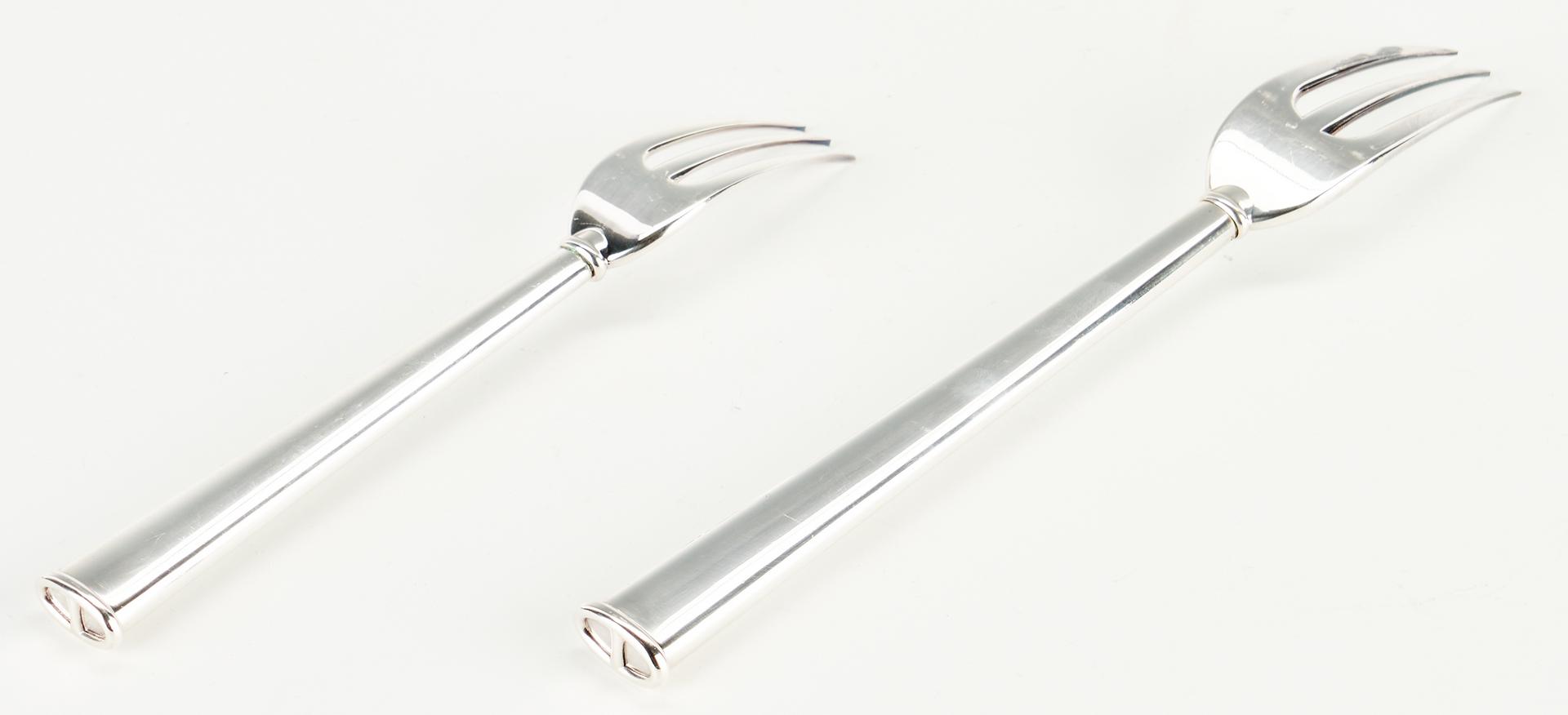 Lot 552: 42 pcs. Hermes Comete Silverplated Flatware w/ Boxes