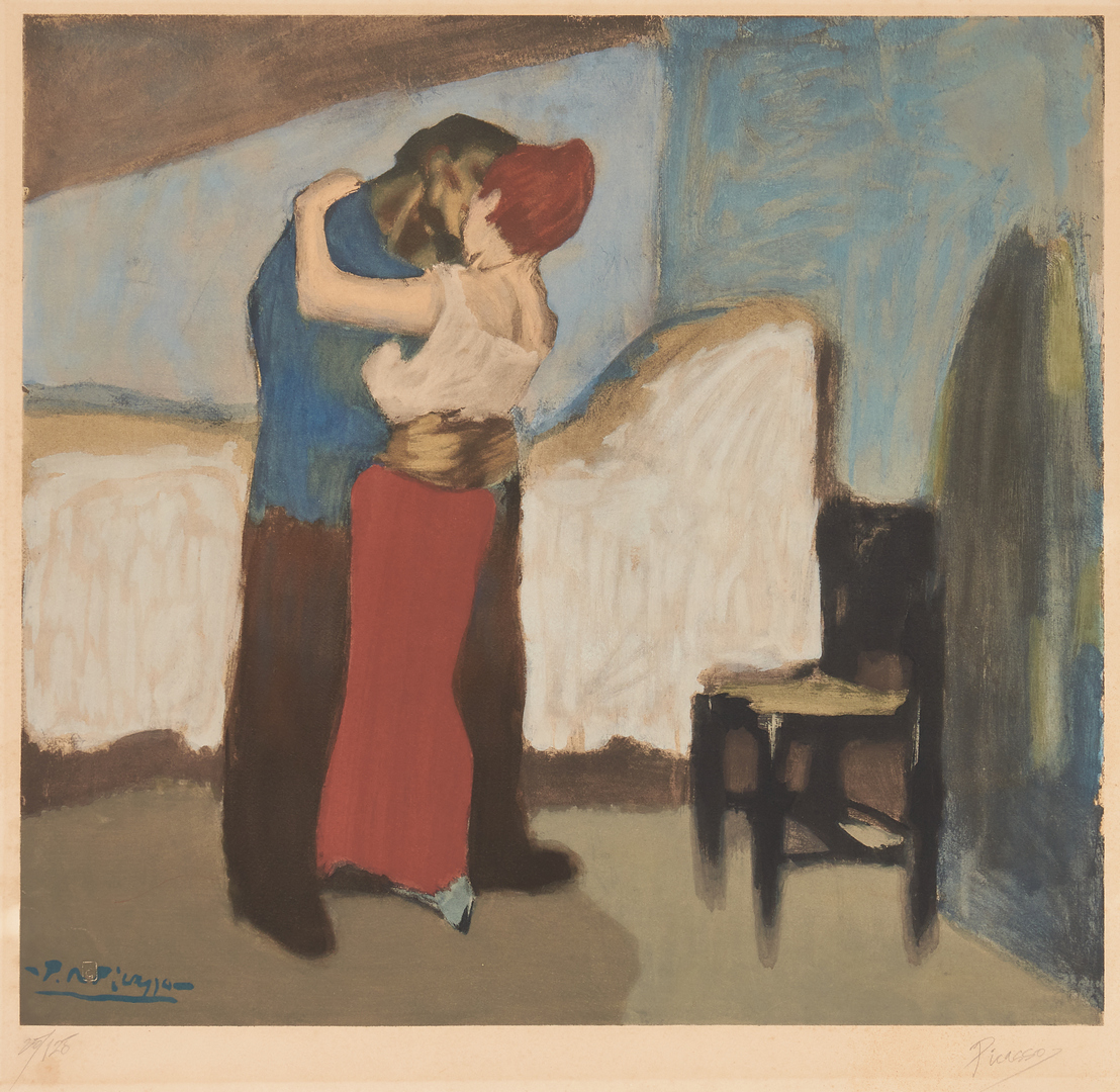 Lot 554: After Pablo Picasso Lithograph, The Embrace
