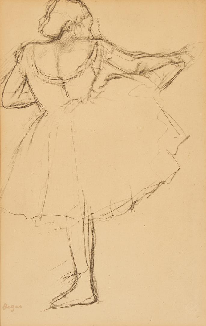 Lot 556: 3 Degas Ballerina Riviere Pochoir Prints, Framed