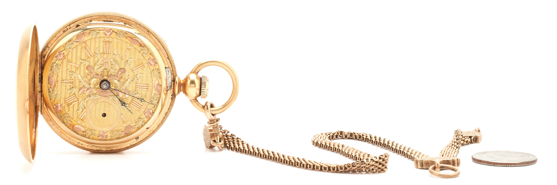 Lot 55: English Fusee Pocket Watch, 18K Gold Case