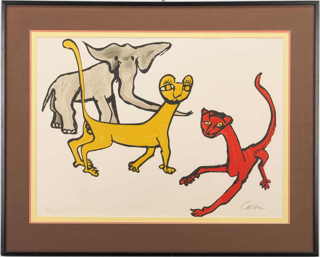 Lot 561: Alexander Calder E.A. Color Lithograph, Animals