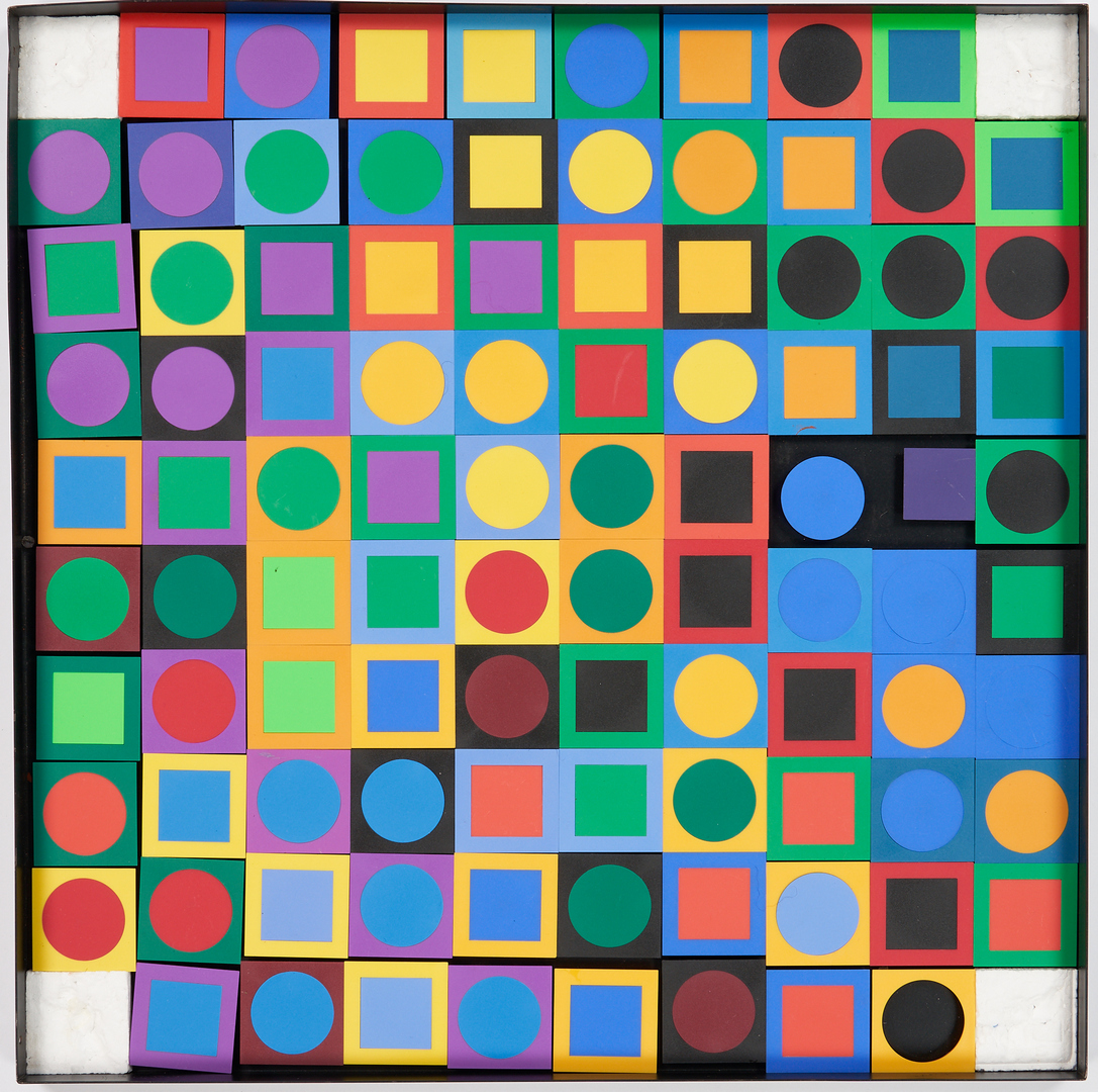 Lot 562: Victor Vasarely Modern Op Art, Vasarely Planetary Folklore Participations No. 1, 1095/3000
