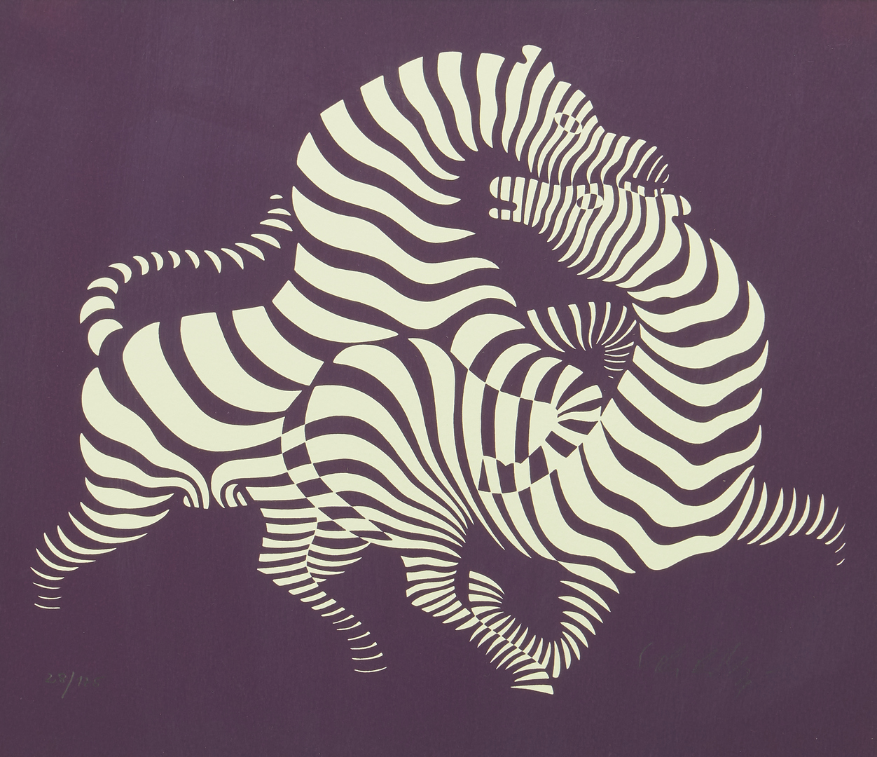 Lot 563: Victor Vasarely Serigraph, Z-Amour