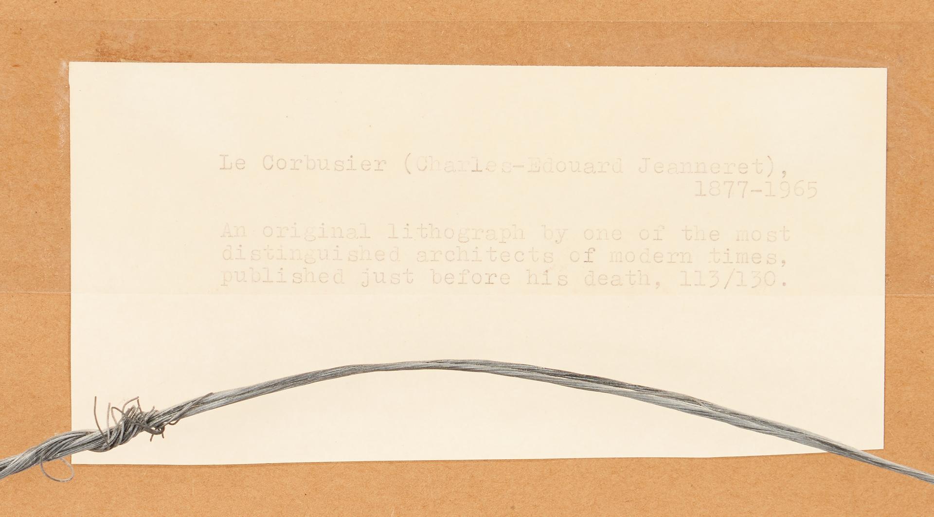 Lot 565: Jeanneret – Le Corbusier etching, Unite, Plate 13