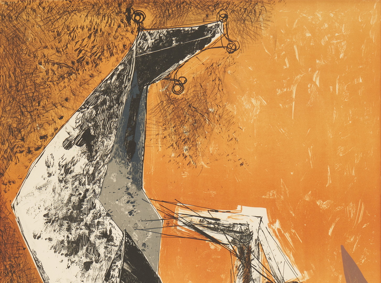Lot 566: Exhibited Marino Marini Lithograph, Miracolo