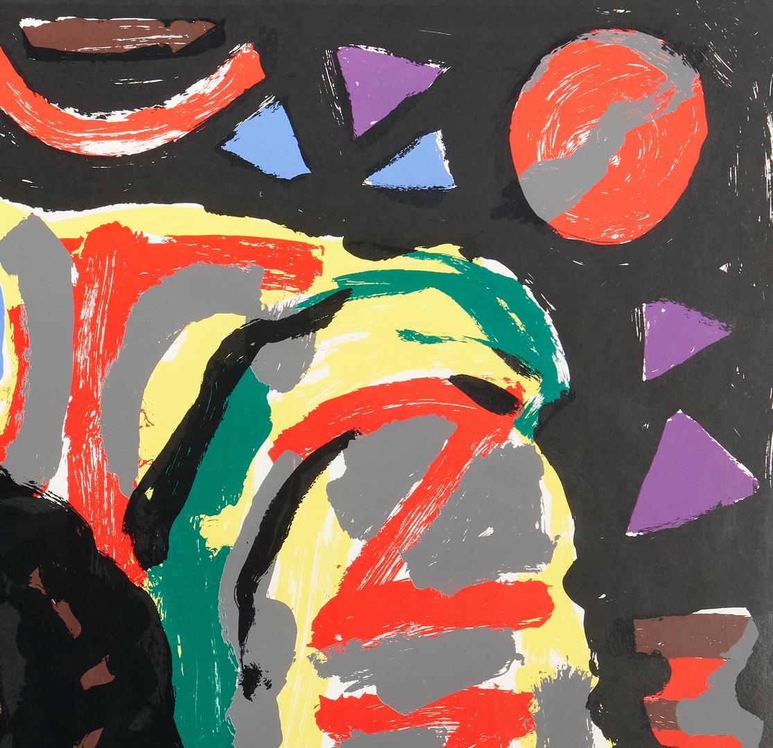Lot 567: A.R. Penck Color Silkscreen, Liebespaar