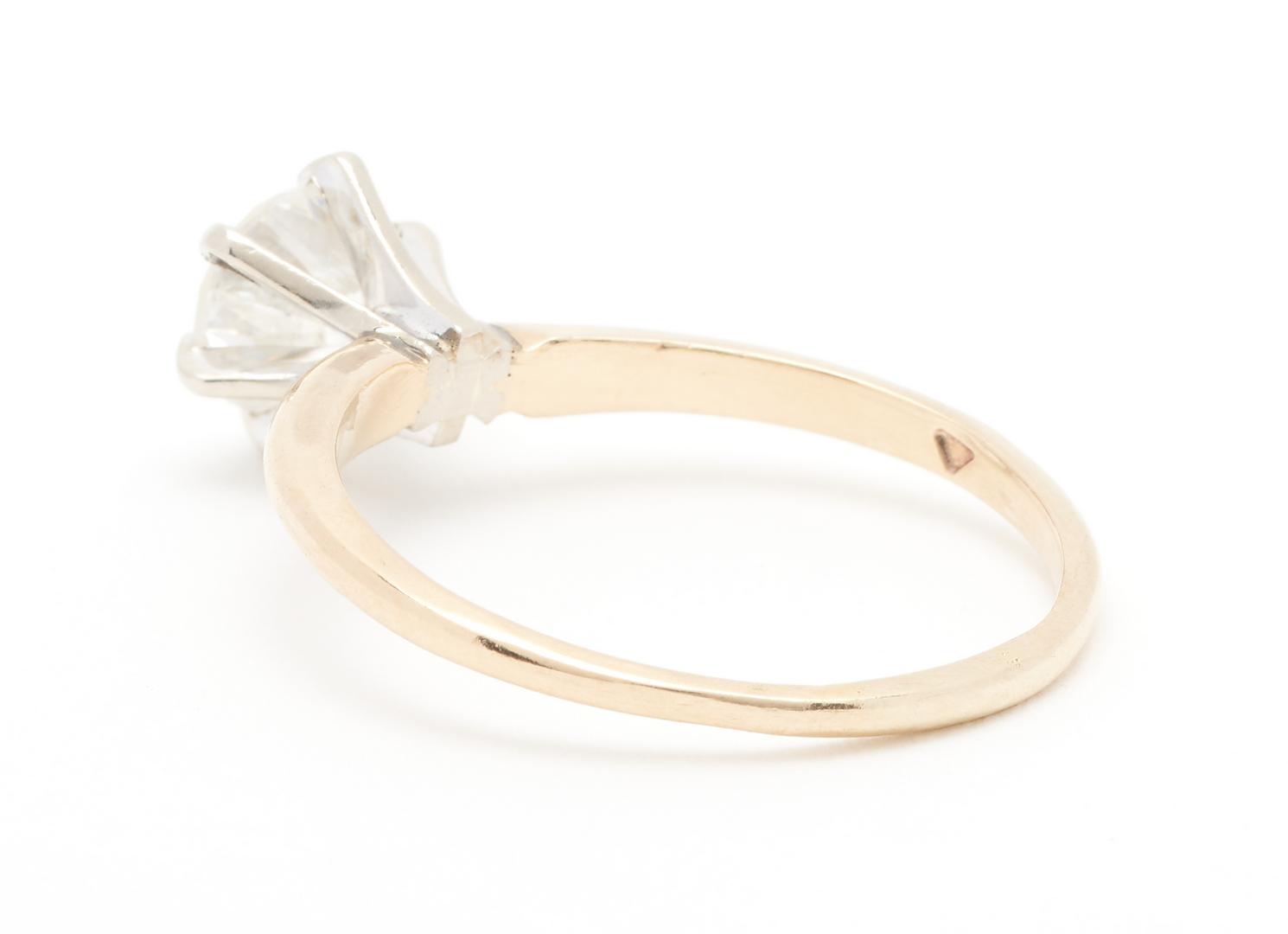 Lot 56: Ladies 14K YG 1CT Diamond Solitaire Ring