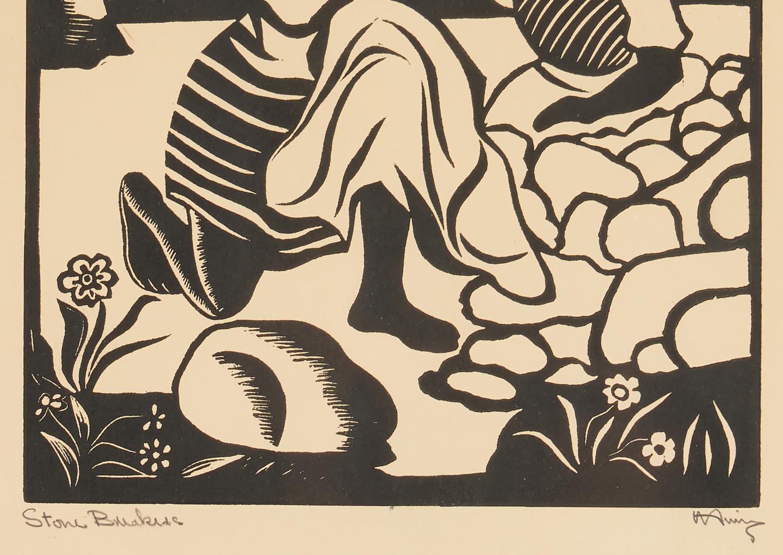 Lot 571: 2 Albert Huie Prints, incl. Stone Breakers