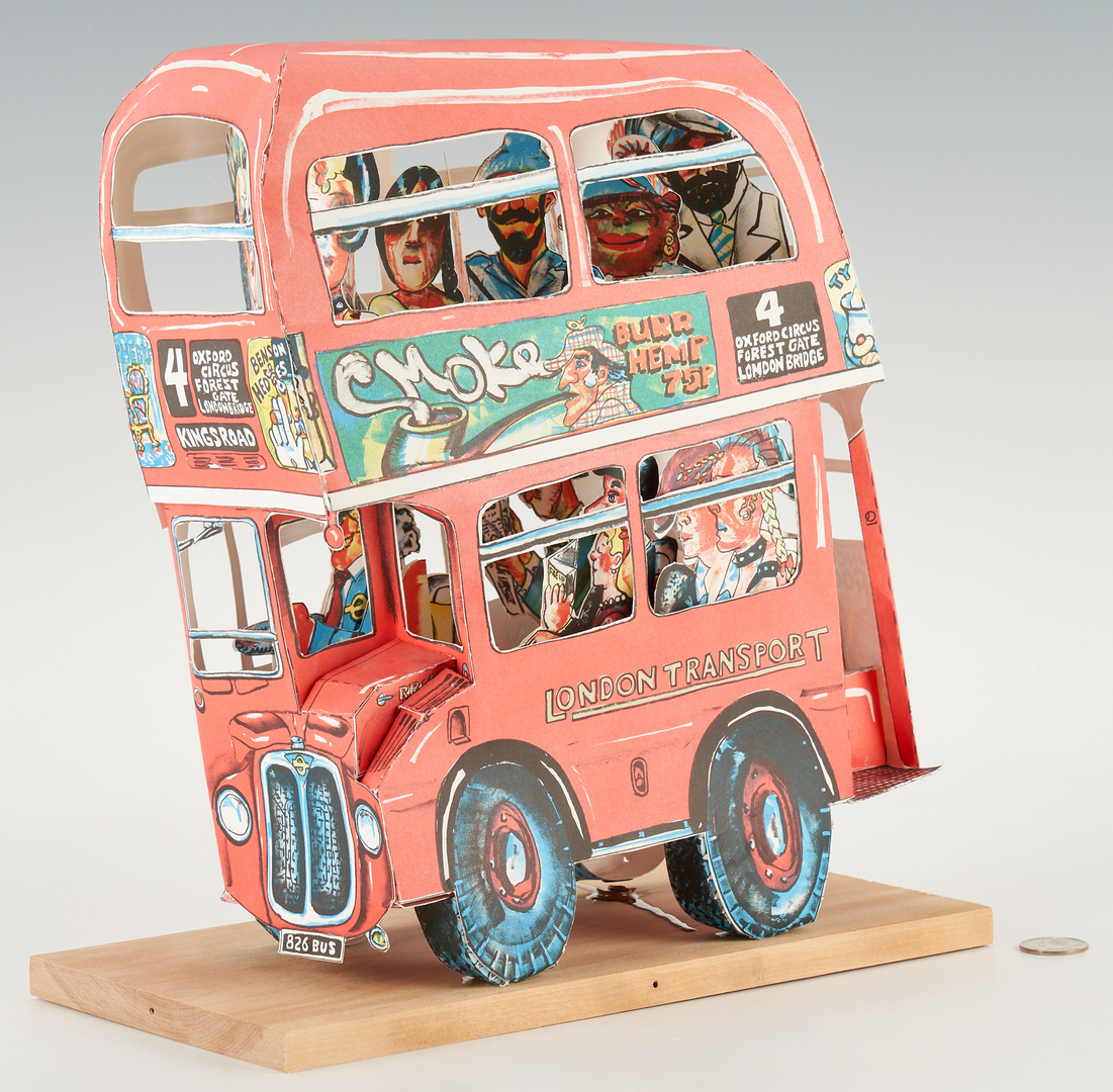 Lot 573: Red Grooms, London Bus