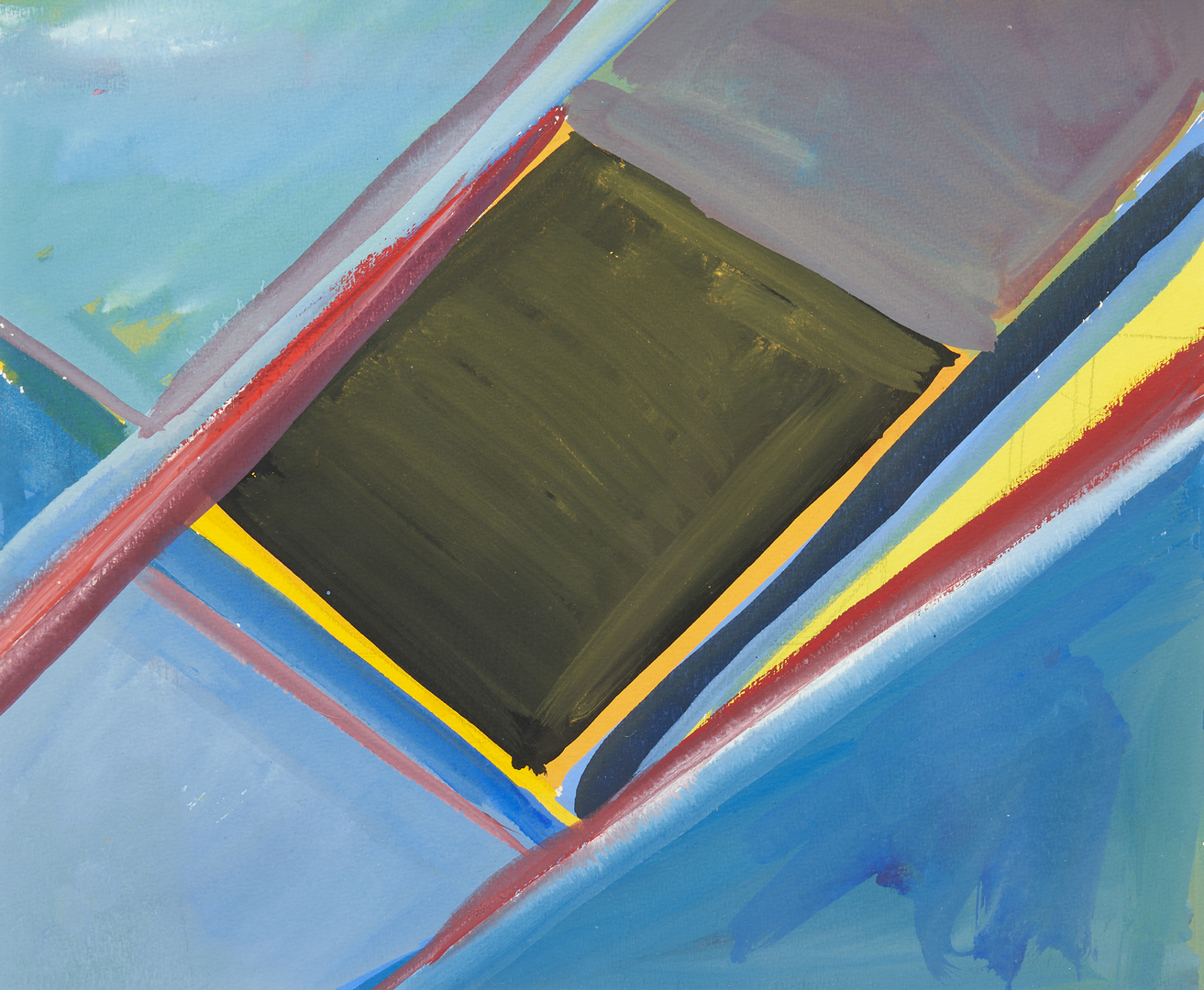 Lot 575: 2 Philip Perkins Abstract Artworks