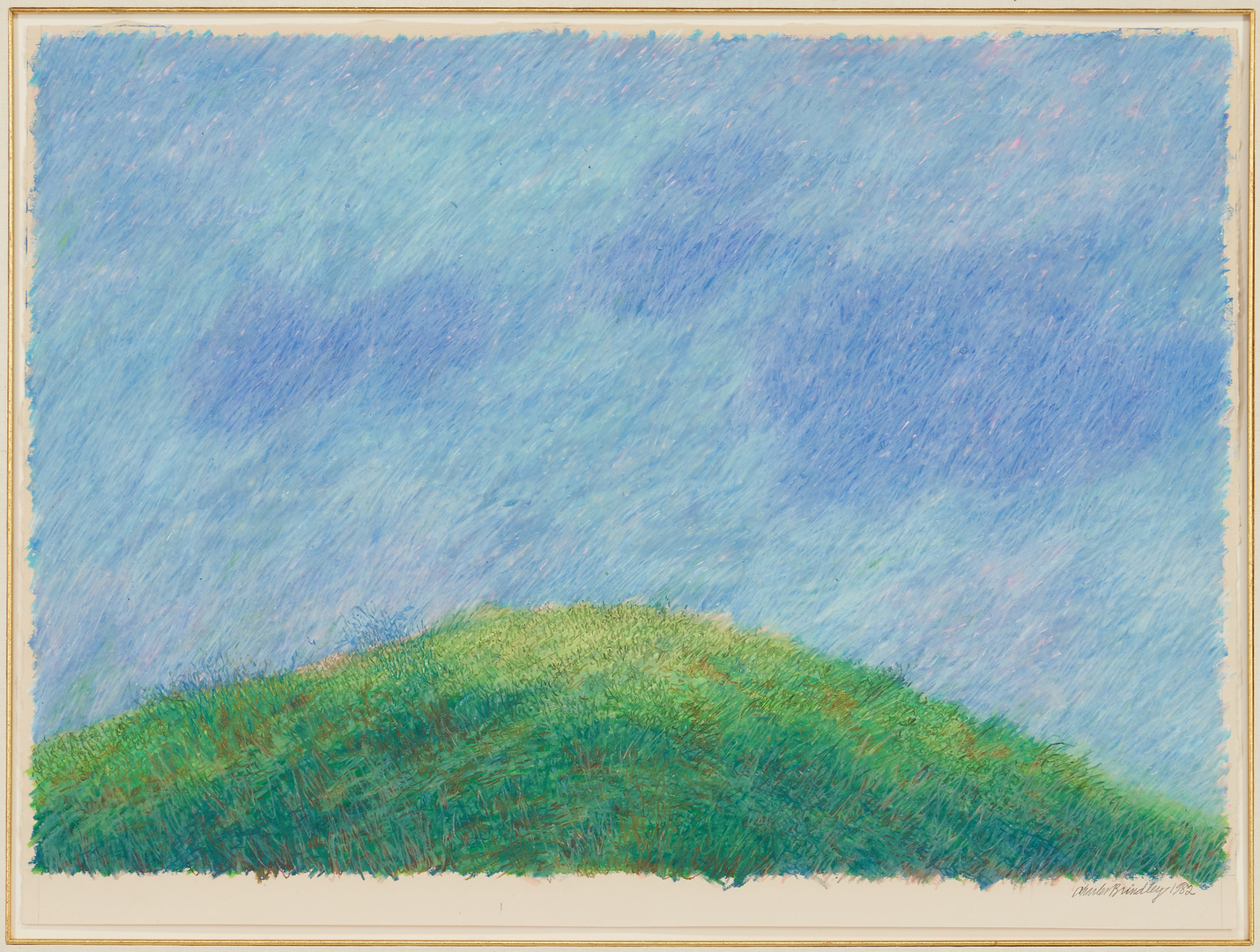 Lot 576: Charles Brindley Oil on Paper, Mound Study
