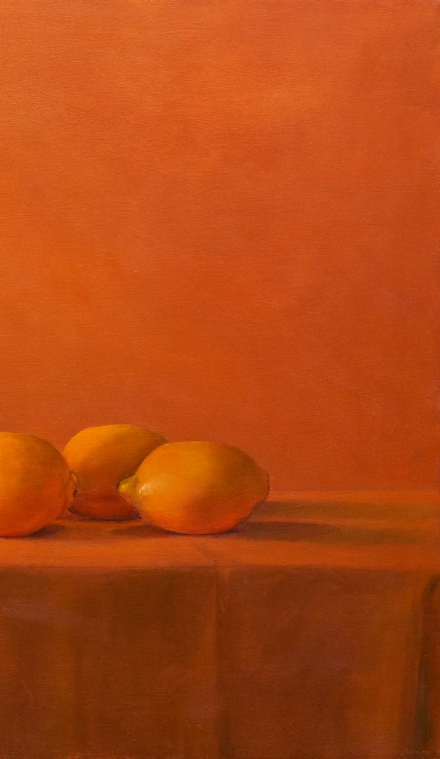 Lot 577: Ray Kleinlein, Oil on Canvas Still Life, Lemons