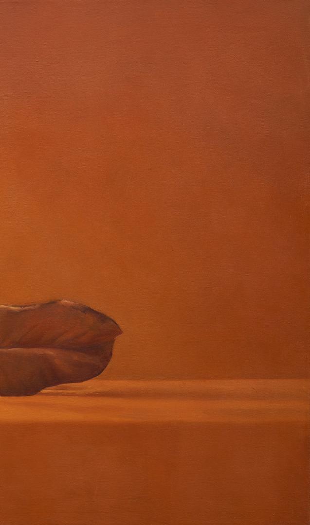 Lot 578: Ray Kleinlein Oil on Canvas Still Life, Magnolia Leaves