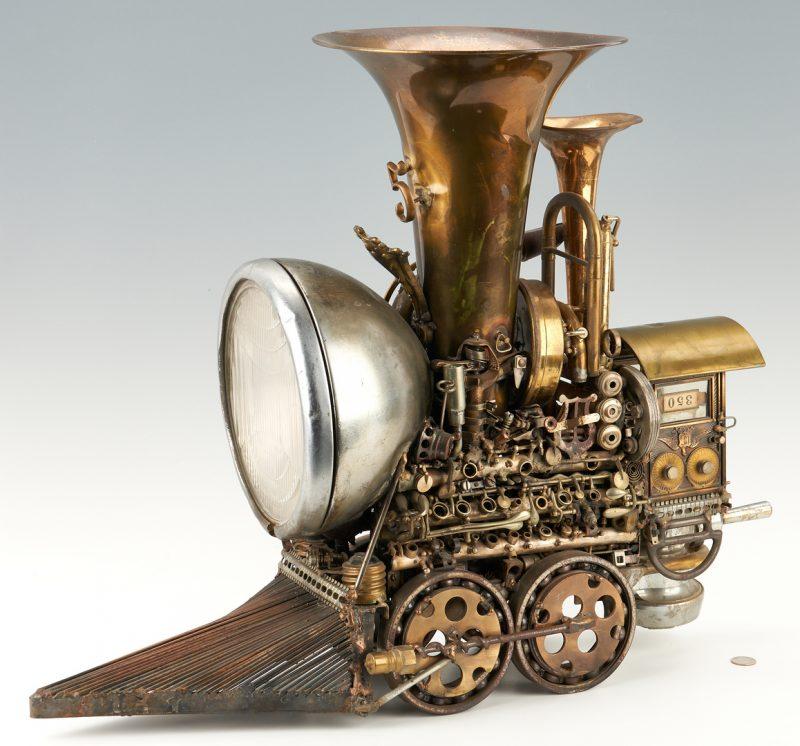Lot 580: Sonny Dalton Mixed Metal Steampunk Sculpture