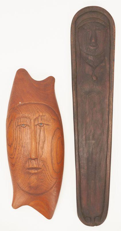 Lot 581: 2 Olen Bryant Wood Sculptures