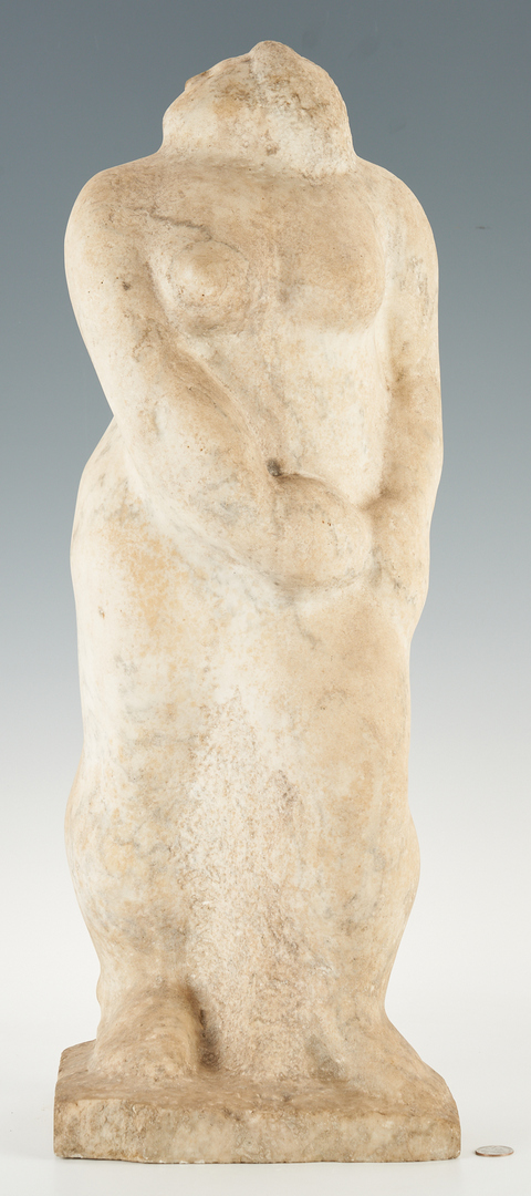 Lot 582: Limestone Sculpture of a Woman, attr. Puryear Mims