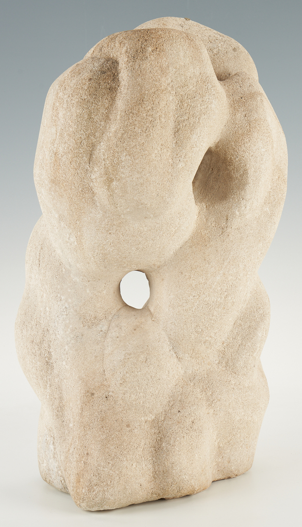 Lot 583: Limestone Sculpture with Intertwined Figures, attr. Puryear Mims