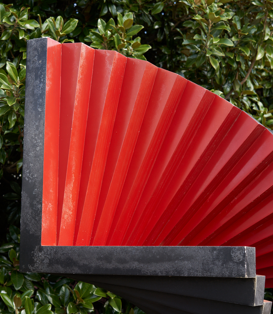 Lot 586: George Sugarman Sculpture, Red And Black Spiral, 1975