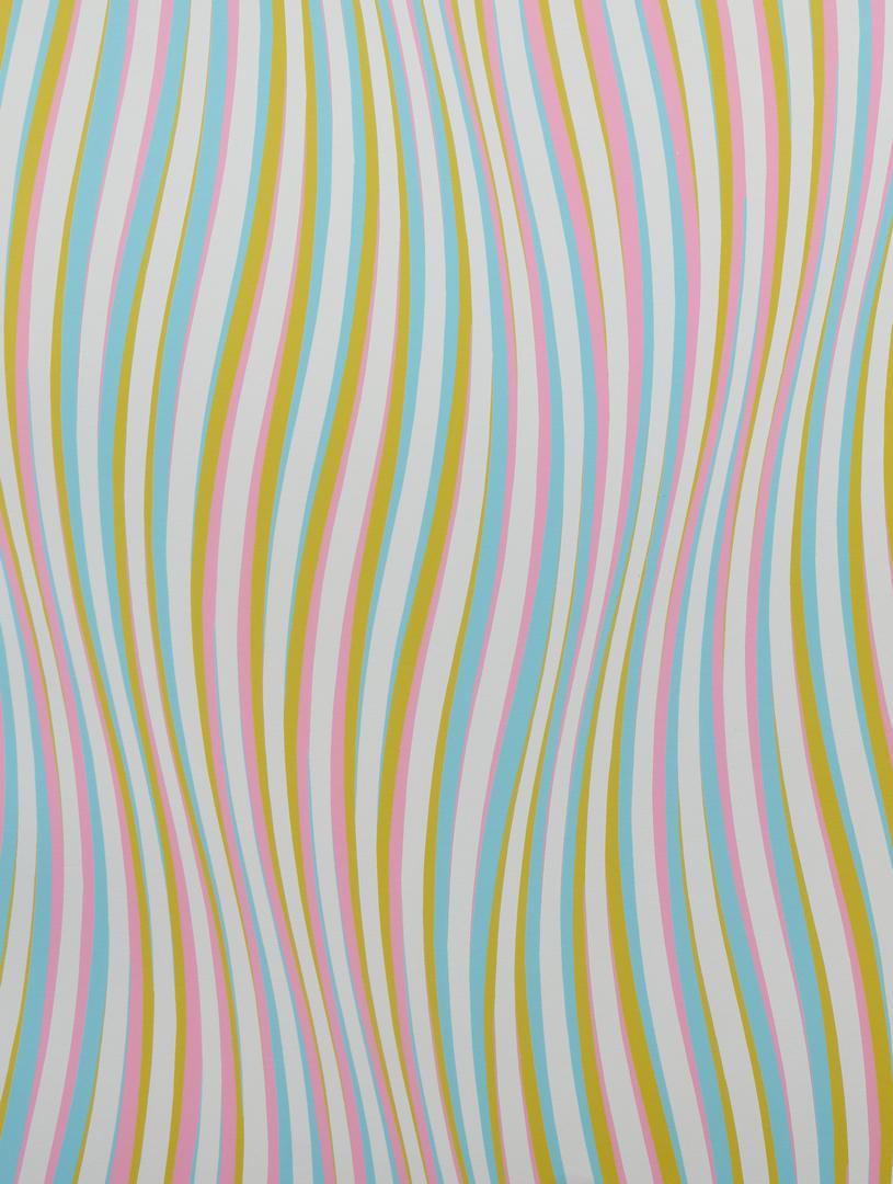 Lot 588: Bridget Riley Color Silkscreen, Elapse