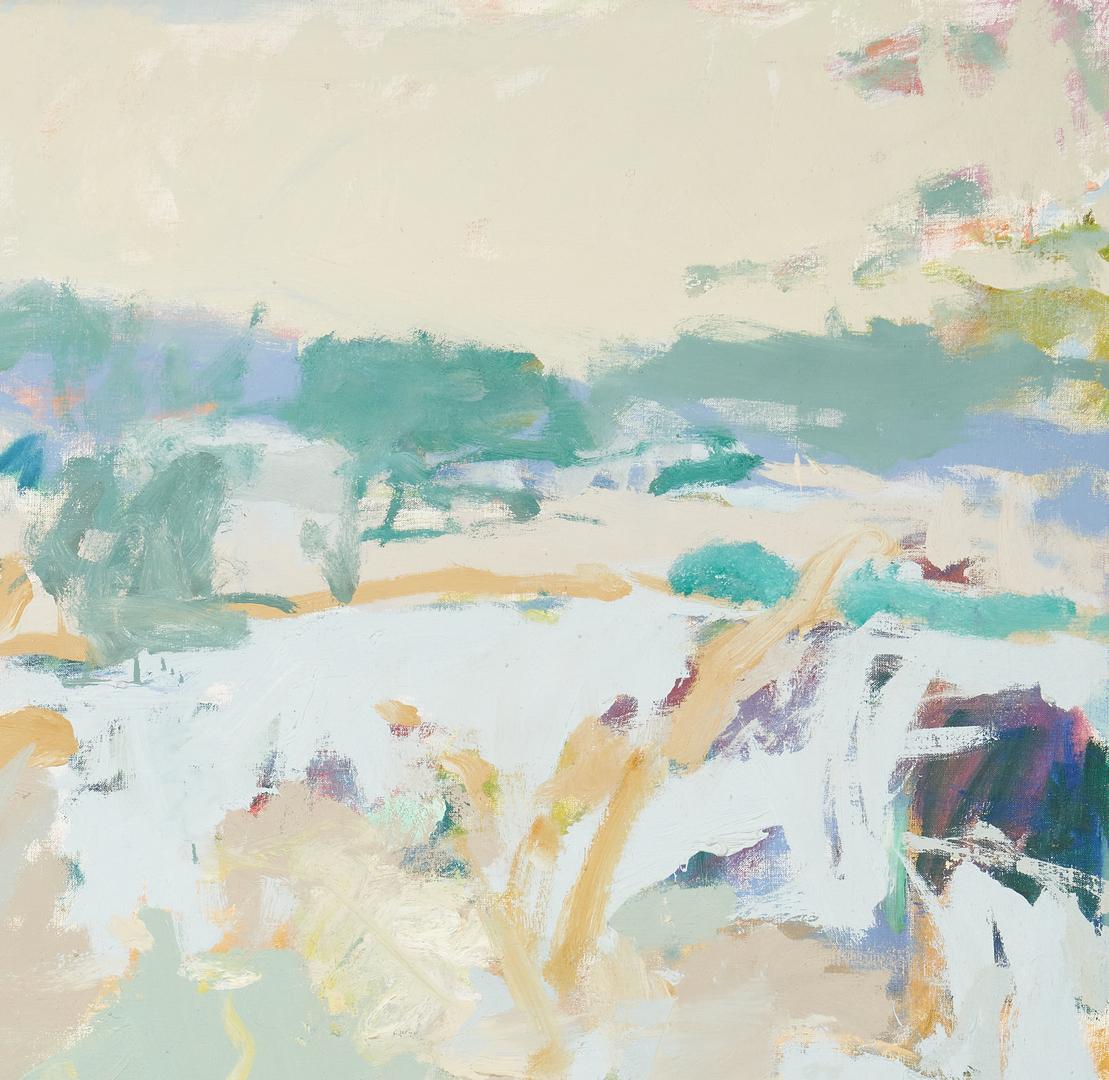Lot 590: David Kapp O/C Abstract Painting, Raritan River, 1977