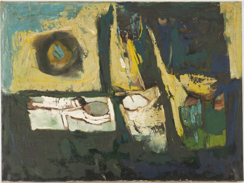 Lot 591: Bimal Dasgupta O/C Abstract Painting