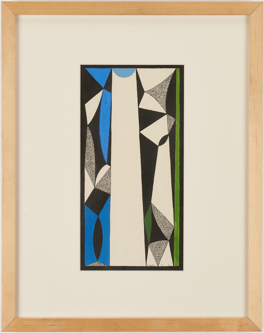 Lot 593: 2 Douglas Denniston Paintings, Saints with Spectrum, Compositions I & II