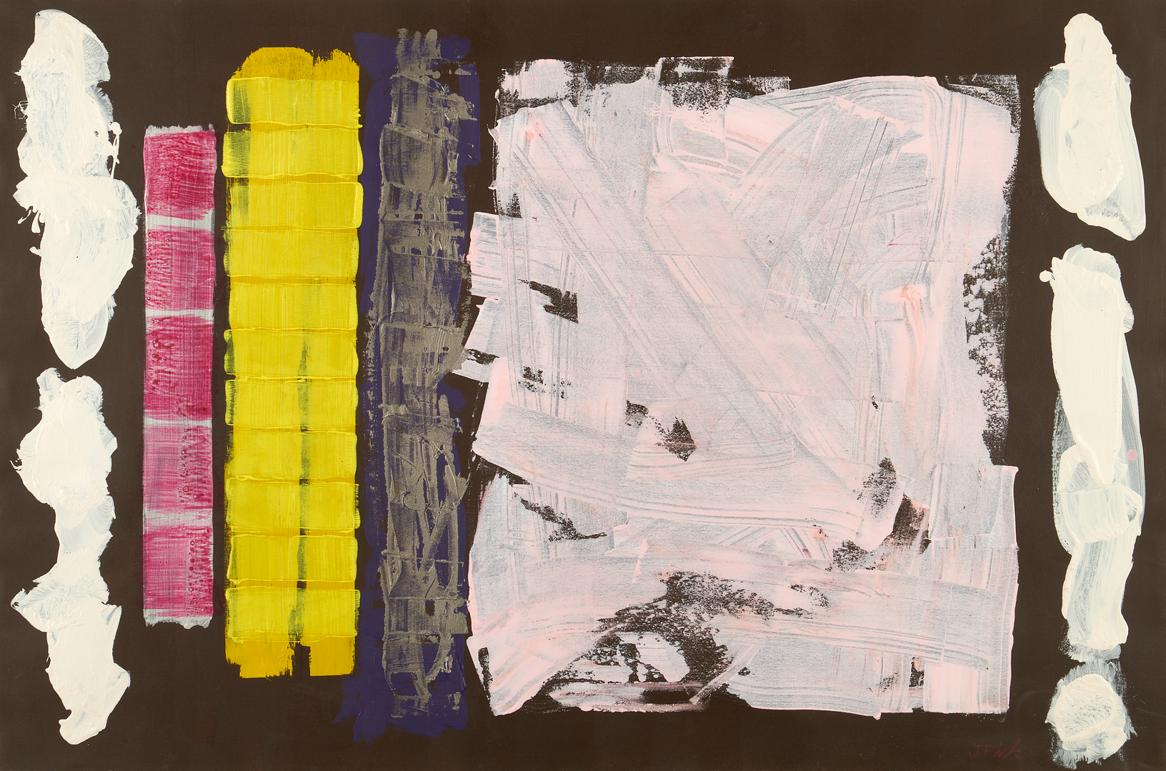 Lot 594: Jorge Fick Abstract Acrylic Painting, Trifle