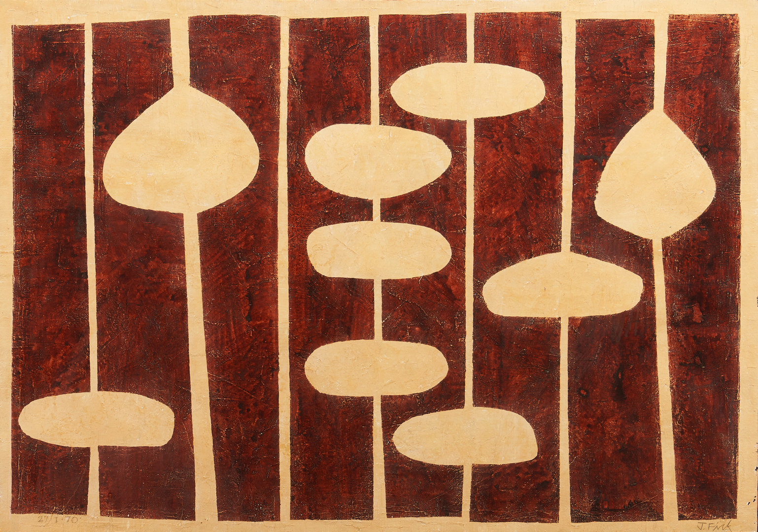 Lot 596: Jorge Fick Large Abstract Painting